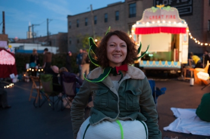 Heather Anderson as the Onion - assisted with sets, costumes, design-work, and spirit