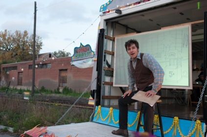 Mitch Salm as Roscoe, the ticket-taker from the Shoot-the Chutes ride at Riverview Park - performer