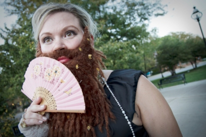 Stacey Richey as the Bearded Lady - also on site acquisition, sets and costume support